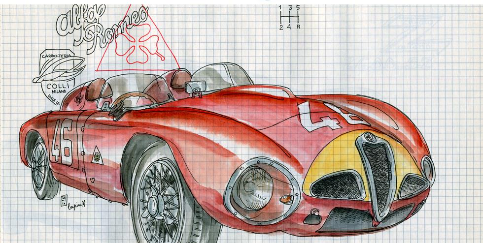 Alfa Romeo Centenary :: Les Illustrations de Lapin (4)