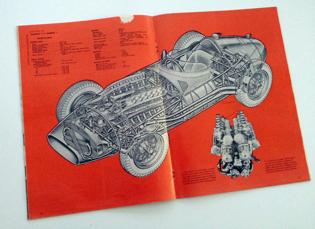 '57 Maserati V-12 :: Cutaway Illustration By C.O. La Tourette