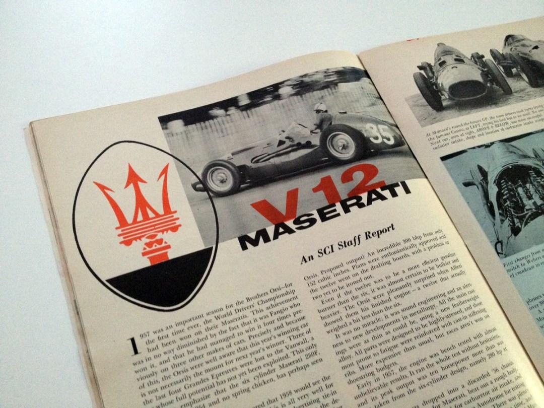 '57 Maserati V-12 :: Cutaway Illustration By C.O. La Tourette