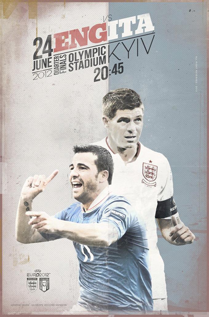 EURO 2012 Poster Football Match :: By Vecchio Barbieri Giuseppe