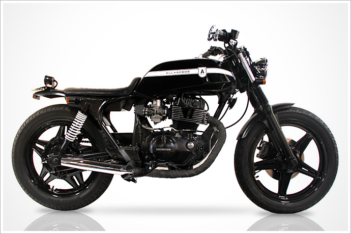 Ellaspede Customs' 1980 Honda CB250N :: via Piperburn