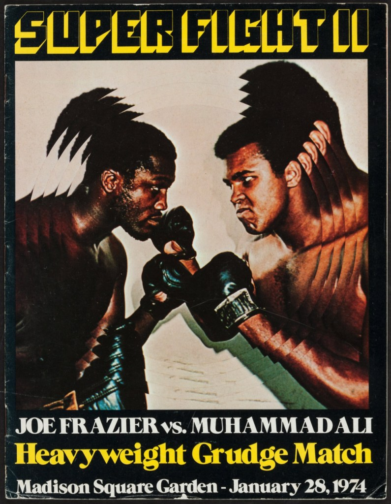1974 Muhammad Ali Vs. Joe Frazier Fight Program