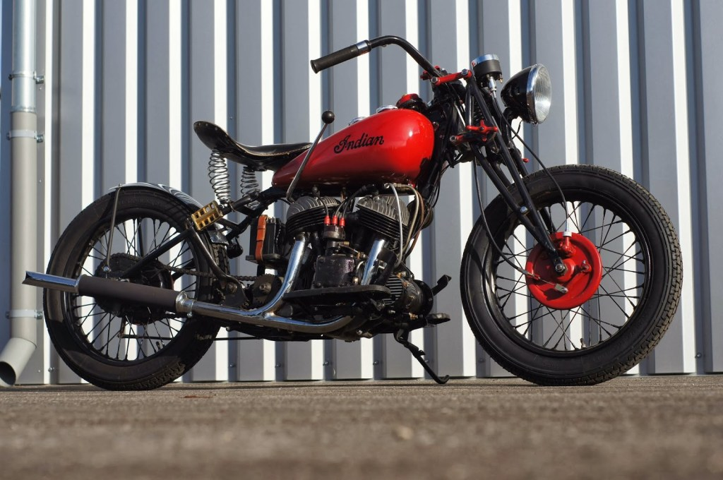 1942 Indian Scout by Rod Bobber :: via Cyclone Motor