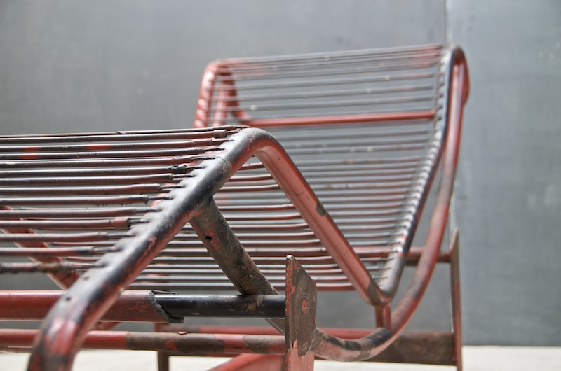 Very Early Cassina Modified Design and Production of the LC4 Adjustable Chaise