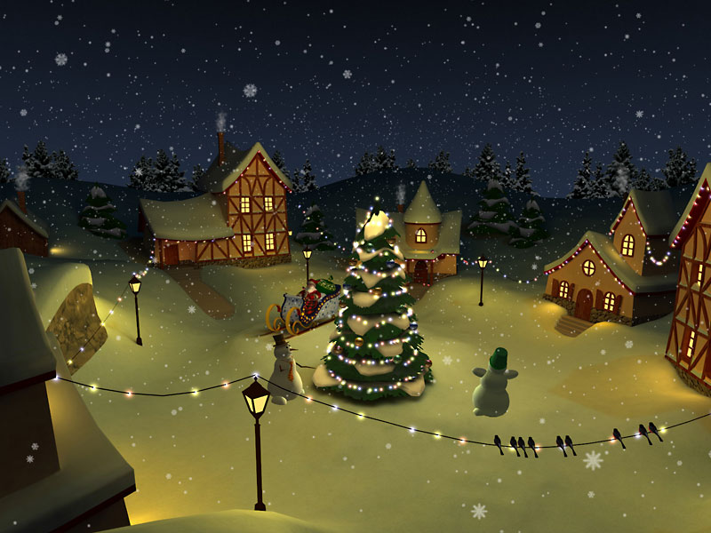 Animated Wallpapers For Ios 6 S Christmas Holiday 3d Screensaver Megagames