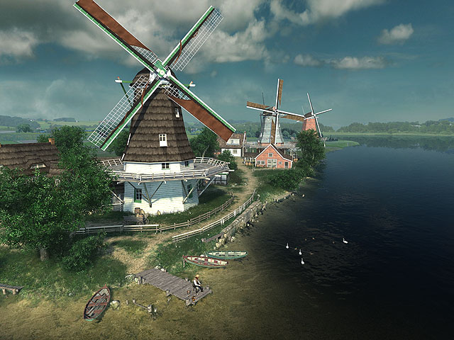 Android Wallpaper 3d Live Pc S Dutch Windmills 3d Megagames