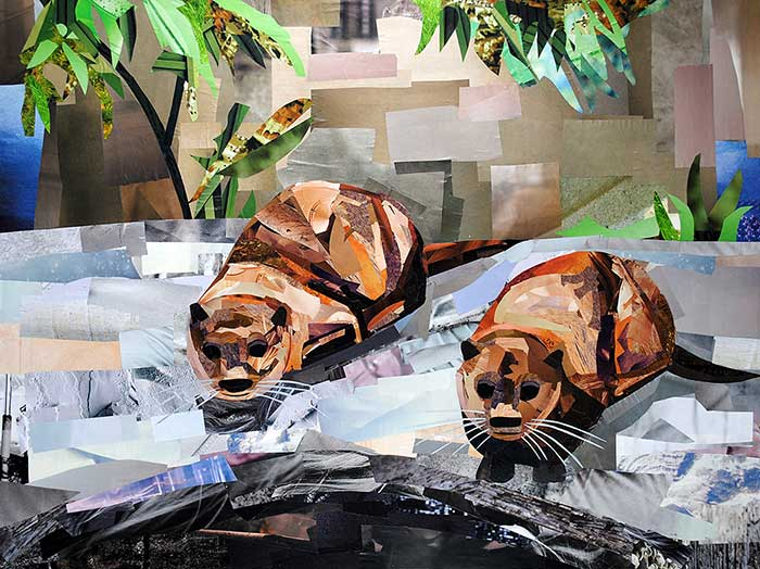 Collages Inspired by the National Zoo Megan Coyle Artist