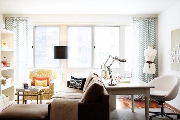 How to Arrange a Desk in the Living Room - Megan Morris - desk in living room