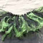 "~26"" around and stretchy to fit most sizes, I made this tutu with black and green tule fabric. This is a short,  $10 - Send me a message via the contact page to get my PayPal info for purchase. Thank you!"