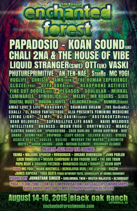 Enchanted Forest 2015 Lineup