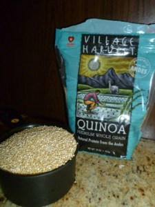 Quinoa, pronounced like keen-wah, is a whole grain superfood, is gluten-free, and cooks quickly due to its small size.