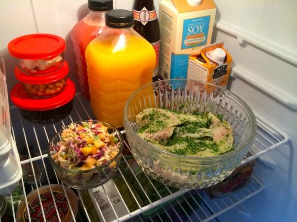 A glimpse into a dietitians kitchen. Let those babies marinate!