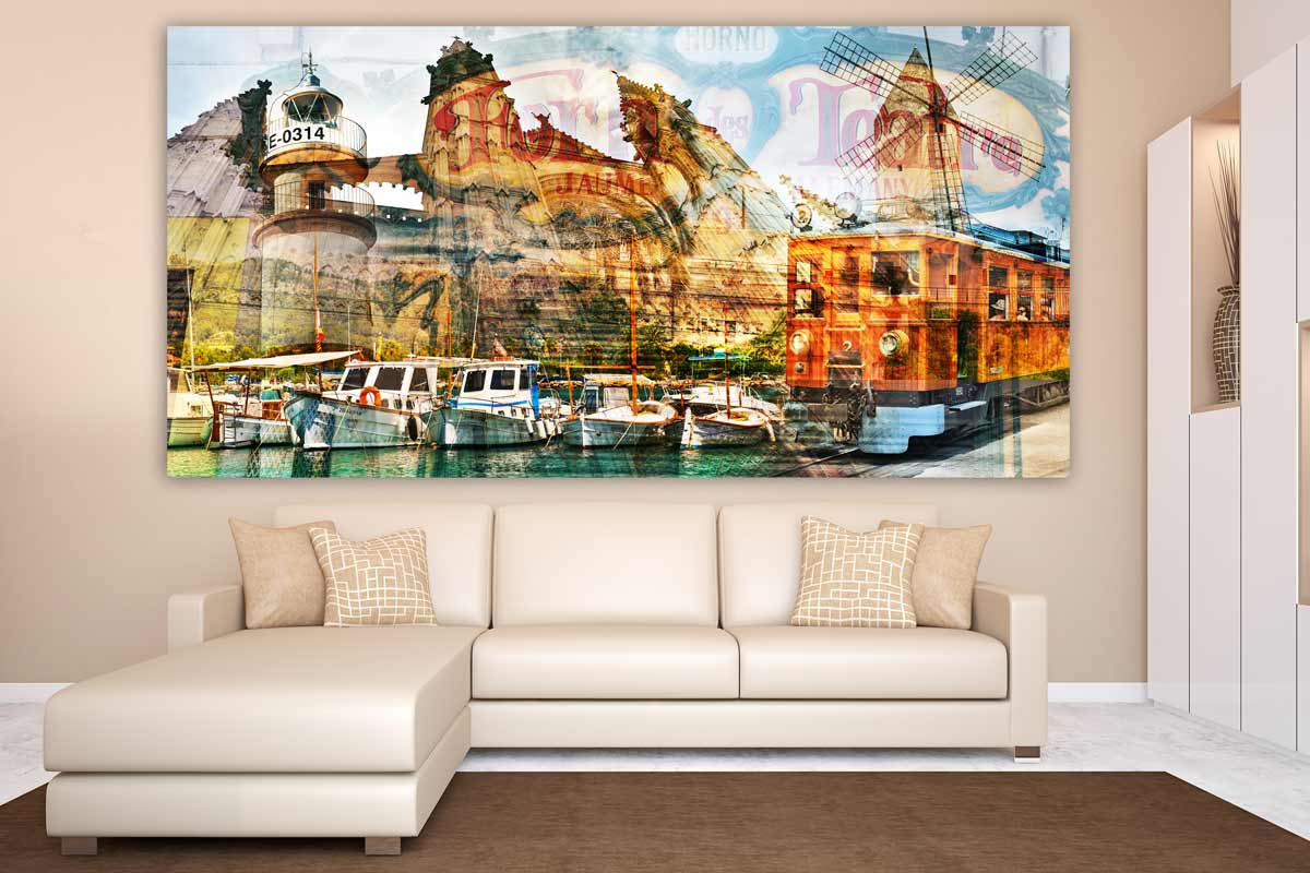 Wandbilder Design Wandbilder Mallorca Im Exclusiven Pop Art Panorama Kunst