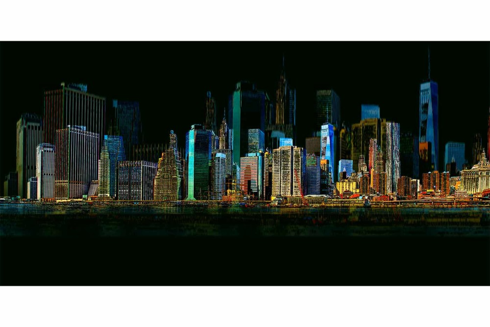 Wandbild Hamburg Wandbilder New York | Skyline Collage Der Stadt Am Hudson