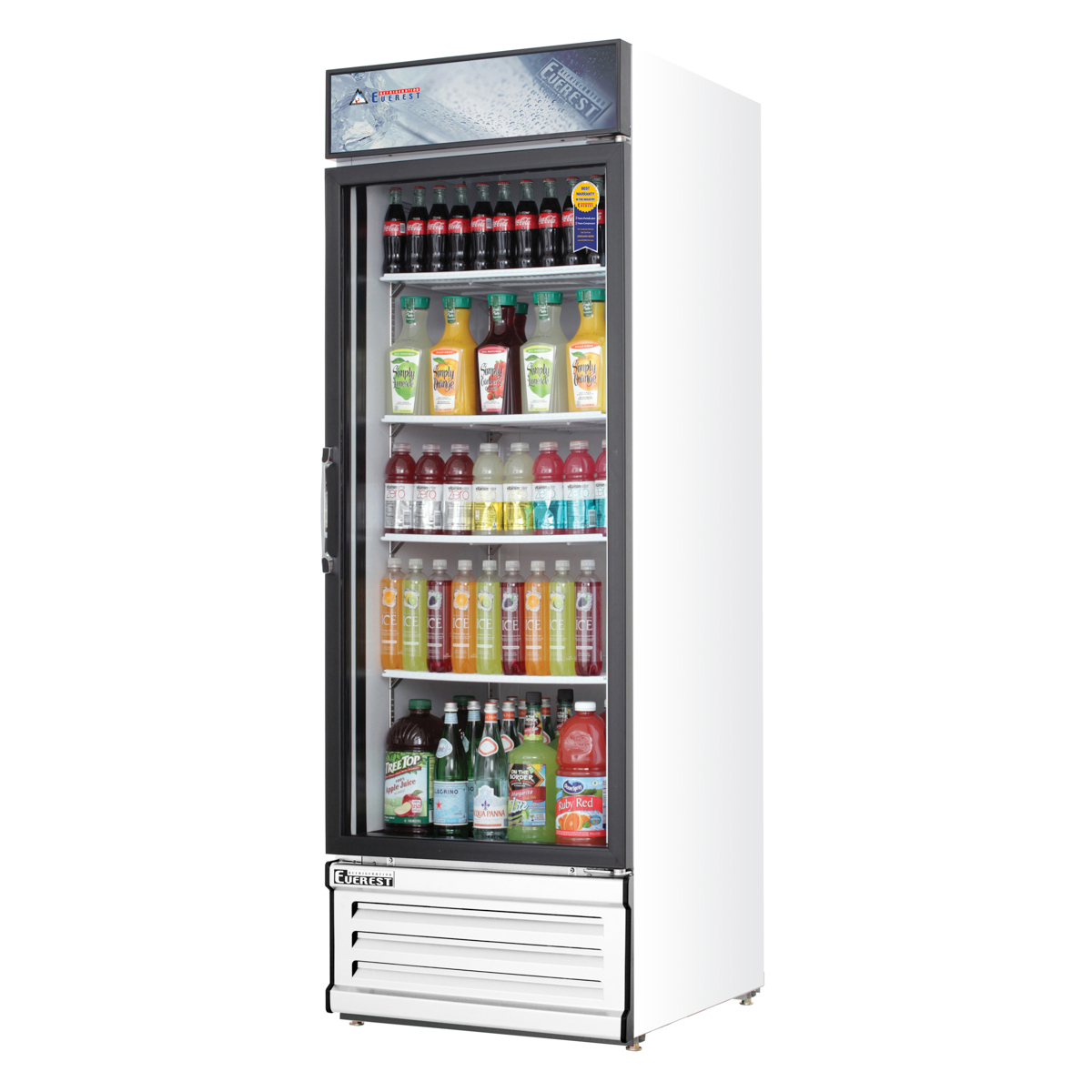 Doors Everest Everest Emgr20 24 Single Glass Swing Door Refrigerator