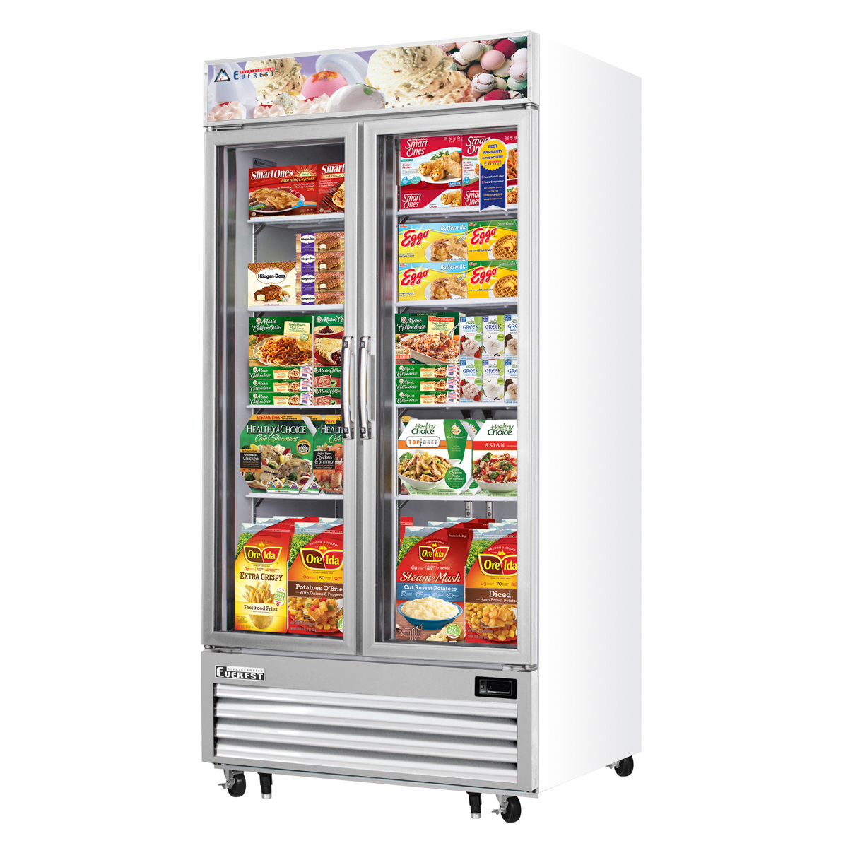Doors Everest Everest Emgf36 41 2 Glass Swing Door Freezer Mega