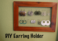 DIY Earring Holder | DIY Project-aholic