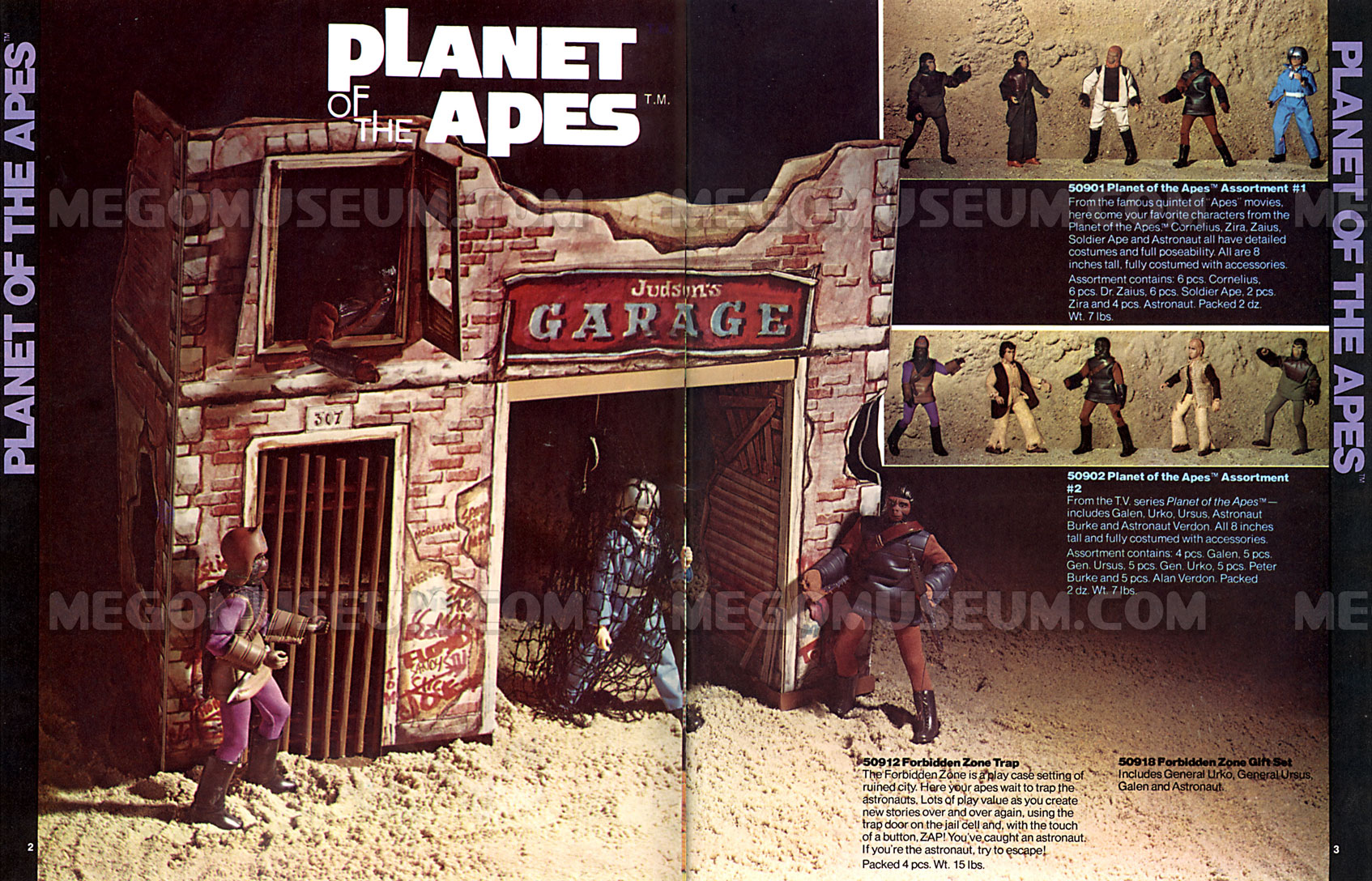Eagle Products Mego Catalog Library: 1975 Planet Of The Apes Playsets