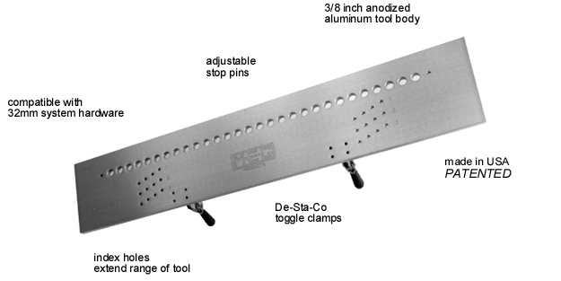 32 mm hole drilling jig options - drill template