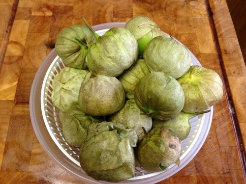 Tomatillos. For years I wondered what they were in my grocery store.