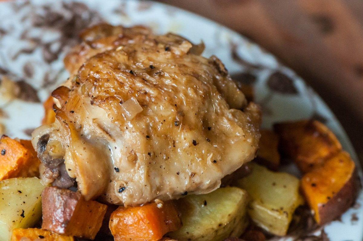 Hard Apple Cider Braised Chicken Thighs