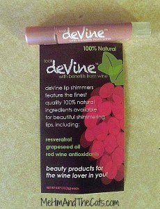 DeVine Info Card 230x300 Beauty for the Wine Lover    deVine Lip Shimmers