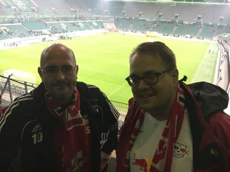 Mein Leipzig bat die Stadträte Ansbert Maciejewski (CDU, links) und Sören Pellmann (Linke) zum gemeinsamen Gespräch nach dem Spiel. Foto: Linda Polenz