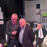 Der Intendant des TDJW, Jürgen Zielinski (links), mit dem Vorsitzenden der Israelitischen Gemeinde Leipzig, Küf Kaufmann.  Foto: Ansbert Maciejewski