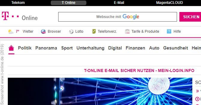 T-pnline T-online E-mail Login - Sicher Das Telekom E-mail-center