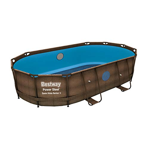 Bestway Power Steel Swim Vista Frame Pool Gartenpool Ohne - Gartenpool Oval