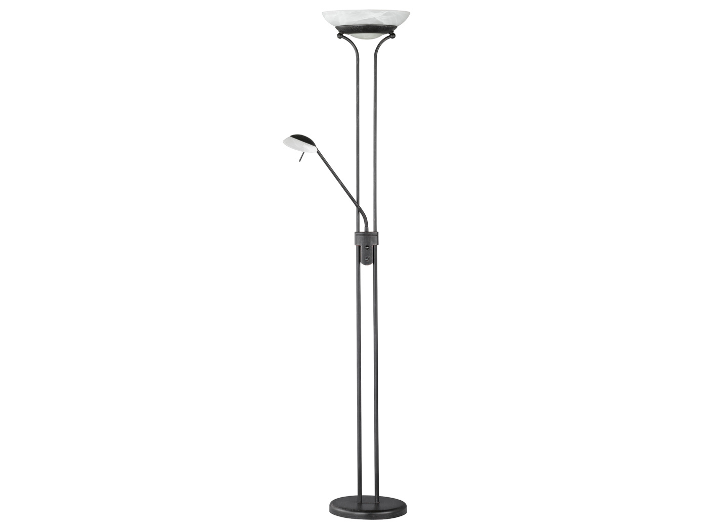 Standleuchte Led Dimmbar Led Stehlampe Mit Leselampe Rostfarbig H 182cm Dimmbar Wohnzimmerlampen Diele