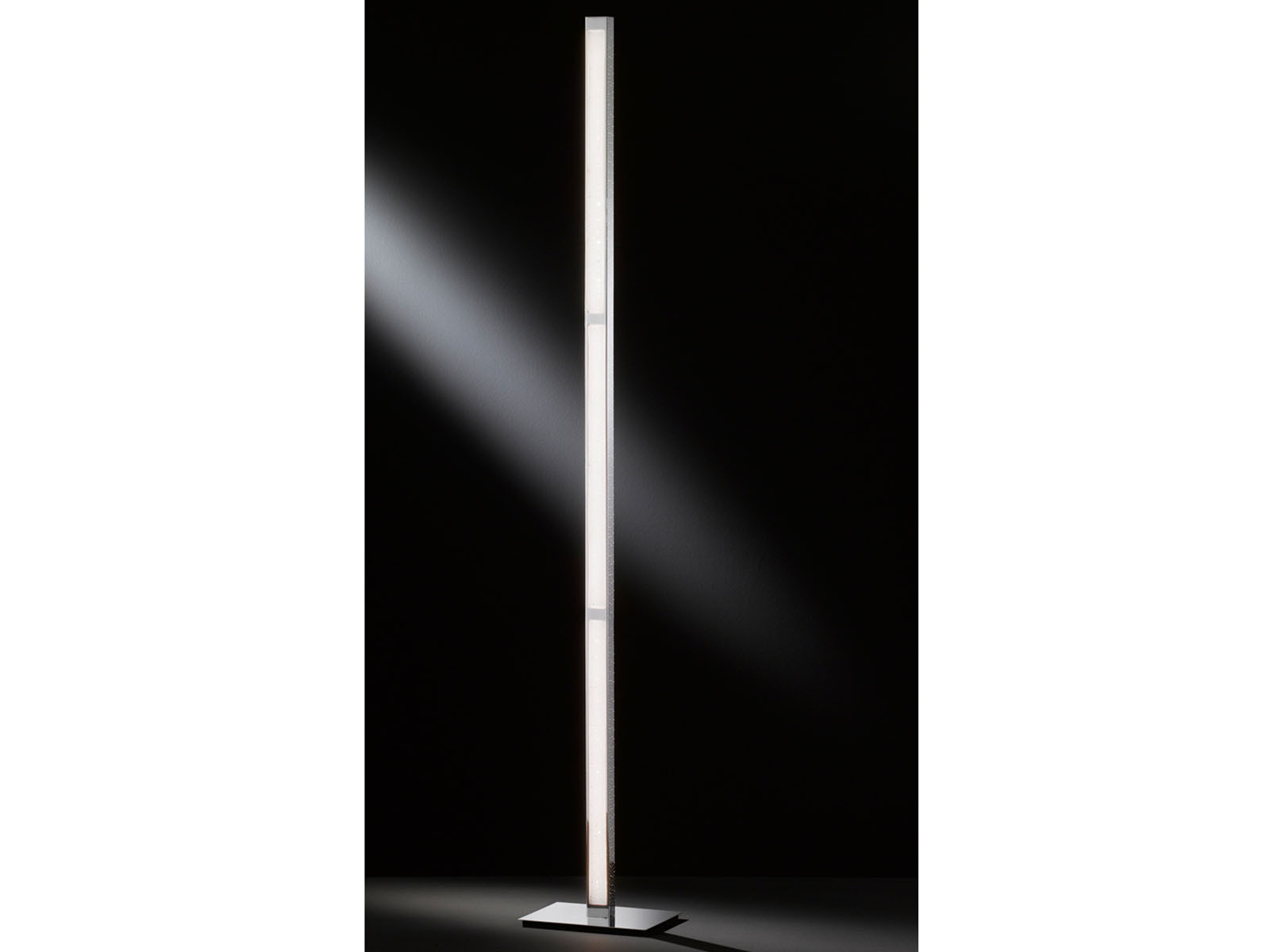 Dimmbare Stehlampe Dimmbare Led Standlampe Höhe 139 5cm Aluminium Chrom Standleuchte