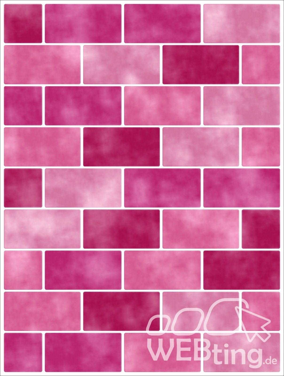 Badezimmer Rosa Fliesen 20x25cm Pink Rosa Fliesenaufkleber Fliesen