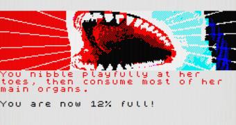 Um adventure de texto onde somos um tubarão