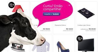 Página interativa do shopping virtual MuccaShop diverte seus usuários
