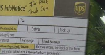 UPS entrega tablet Android direto na lata de lixo