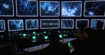 DEFCON 1 — visualização de um ataque DDOS