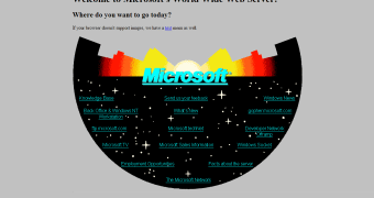 Site da Microsoft em 1994 parecia uma página do Geocities