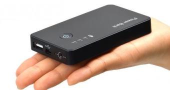 Uma bateria mobile para smartphones com câmera embutida. Japão, claro