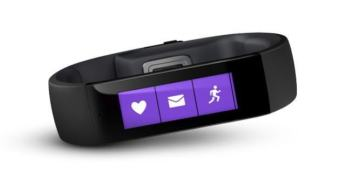 Microsoft Band on the run