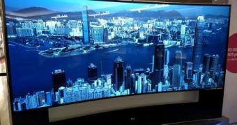 A TV curva 5K de 105 polegadas da LG que não é pro seu bico