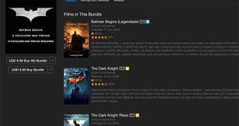 Trilogia do Batman em promoção no iTunes