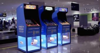 Jogue arcade num aeroporto sueco e ajude a Cruz Vermelha