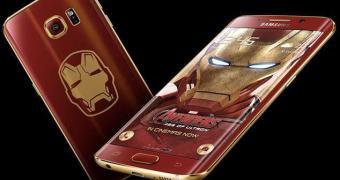 Galaxy S6 Edge Iron Man com carregador sem fio do reator Arc