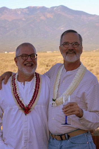 Scott Wiggerman and David Meischen on their wedding day.