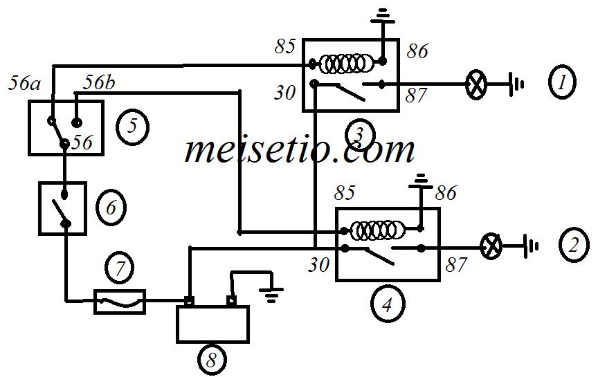 wiring diagram lampu plat nomor