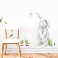 Silly Bunny Fabric Wall Decal - MejMej