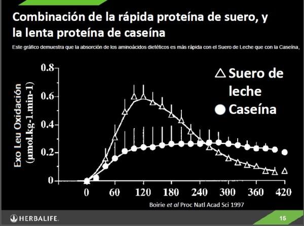 Proteina de suero y caseina