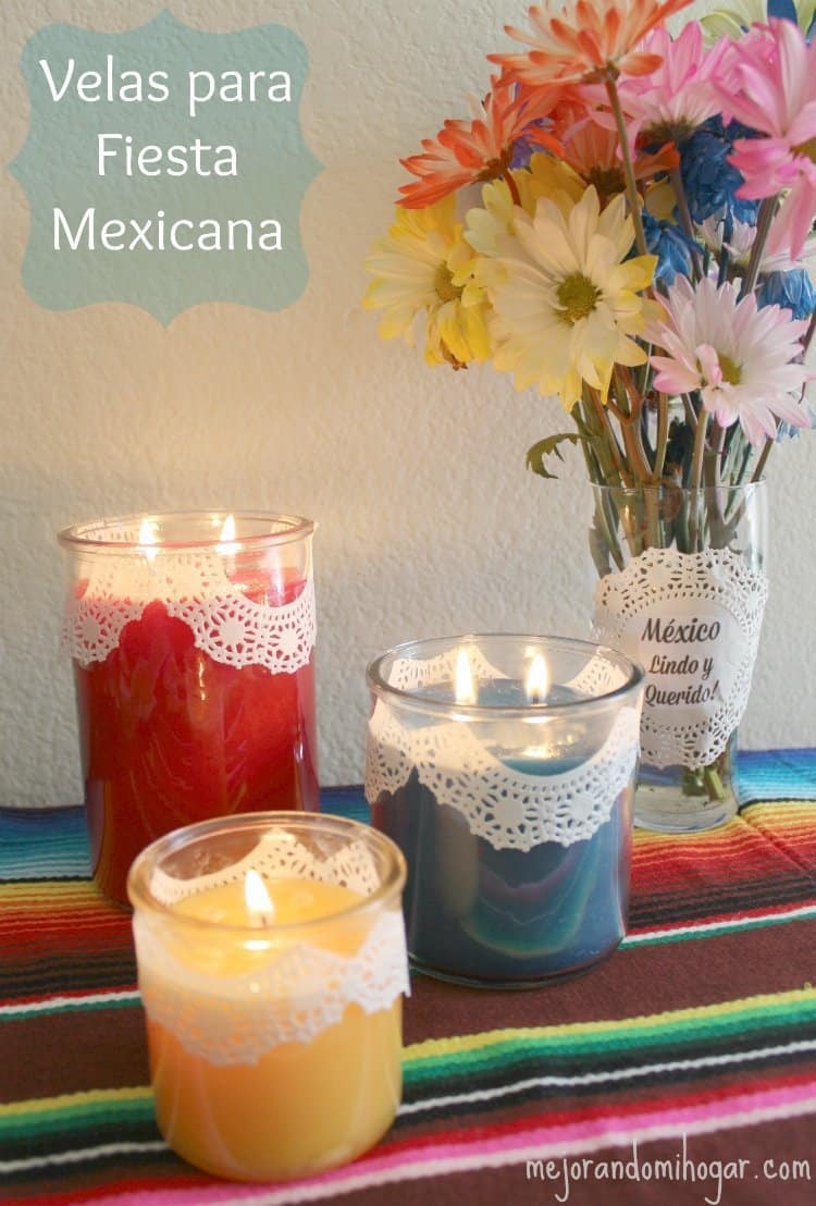 Ideas Faciles Para Decorar Velas Para Fiesta Mexicana O Hispanic Heritage Month