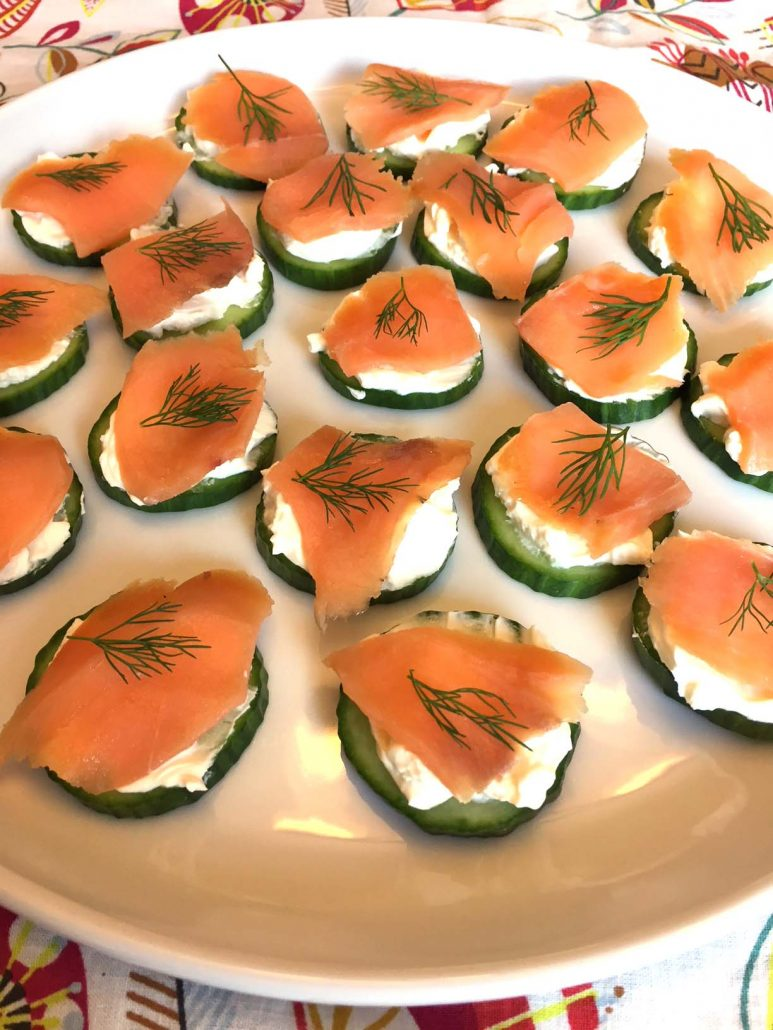 Canapés Wraps Smoked Salmon Cucumber Appetizer